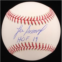 "Lee Smith Signed OML Baseball Inscribed ""HOF 19"" (JSA COA)"