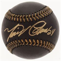 Miguel Cabrera Signed Black Leather OML Baseball (JSA COA)