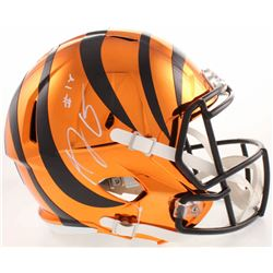 A. J. Green Signed Cincinnati Bengals Full-Size Orange Chrome Speed Helmet (JSA COA)