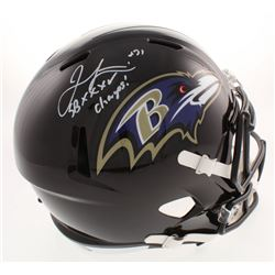 "Jamal Lewis Signed Baltimore Ravens Full-Size Speed Helmet Inscribed ""SB XXXV Champs!"" (Beckett COA)"