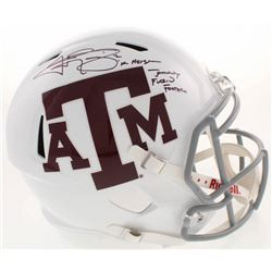 Johnny Manziel Signed Texas AM Aggies Full-Size Speed Helmet With Multiple Inscriptions (Beckett COA