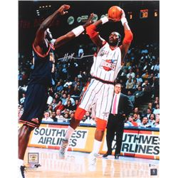 Hakeem Olajuwon Signed Houston Rockets 16x20 Photo (Beckett COA)