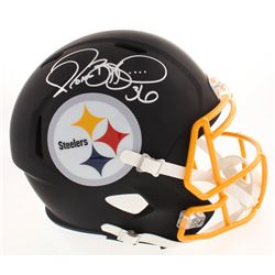 Jerome Bettis Signed Pittsburgh Steelers Full-Size Matte Black Speed Helmet (Beckett COA)