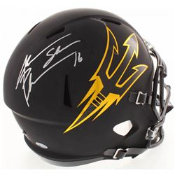 Jake Plummer Signed ASU Sun Devils Full-Size Matte Black Speed Helmet (Beckett COA)