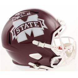 Dak Prescott Signed Mississippi State Bulldogs Full-Size Speed Helmet (Beckett COA)
