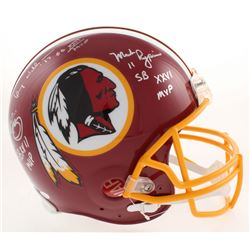 Super Bowl MVP's Washington Redskins Full-Size Authentic On-Field Helmet Signed by (3) with John Rig