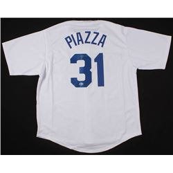 Mike Piazza Signed Los Angeles Dodgers Jersey (Beckett COA)