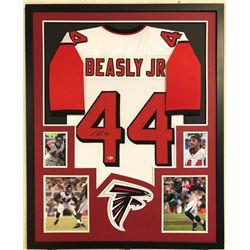 Vic Beasley Signed Atlanta Falcons 34x42 Custom Framed Jersey (Beckett COA)