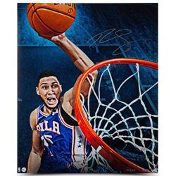 "Ben Simmons Signed Philadelphia 76ers ""Slam"" Limited Edition 20x24 Photo (UDA COA)"