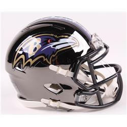 Terrell Suggs Signed Baltimore Ravens Chrome Speed Mini-Helmet (Radtke COA)