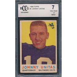 1959 Topps #1 Johnny Unitas (BCCG 7)