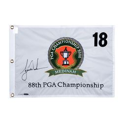 Tiger Woods Signed Limited Edition 2006 PGA Championship Pin Flag (UDA COA)