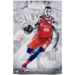 "Ben Simmons Signed Philadelphia 76ers ""Driven"" 16x24 Photo (UDA COA)"