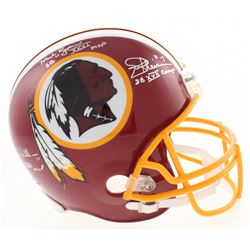 Super Bowl MVP's Washington Redskins Full-Size Helmet Signed by (3) with John Riggins, Doug Williams