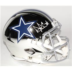 Dak Prescott Signed Dallas Cowboys Full-Size Chrome Speed Helmet (Beckett COA  Prescott Hologram)