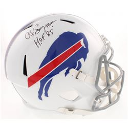 "O.J. Simpson Signed Buffalo Bills Full-Size Speed Helmet Inscribed ""H.O.F. 85"" (JSA COA)"