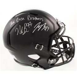 "Joey Bosa  Nick Bosa Signed Ohio State Buckeyes Full-Size Speed Helmet Inscribed ""The Bosa Brothers"""