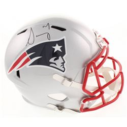 Sony Michel Signed New England Patriots Full-Size Speed Helmet (JSA COA)