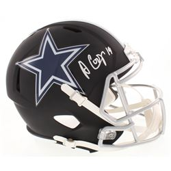Amari Cooper Signed Dallas Cowboys Full-Size Matte Black Speed Helmet (Beckett COA)