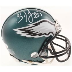 Brian Dawkins Signed Philadelphia Eagles Mini Helmet (JSA COA)