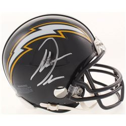 Antonio Gates Signed San Diego Chargers Throwback Mini Helmet (Beckett COA)
