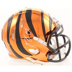 A.J. Green Signed Cincinnati Bengals Chrome Mini Speed Helmet (JSA COA)