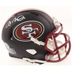 Joe Montana Signed San Francisco 49ers Matte Black Mini Speed Helmet (Beckett COA)