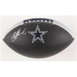 Troy Aikman Signed Dallas Cowboys Logo Football (Beckett COA)