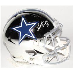 Leighton Vander Esch Signed Dallas Cowboys Full-Size Chrome Speed Helmet (Beckett COA)