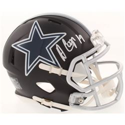 Amari Cooper Signed Dallas Cowboys Matte Black Mini Speed Helmet (Beckett COA)