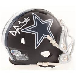 Dak Prescott Signed Dallas Cowboys Matte Black Mini Speed Helmet (Beckett COA  Prescott Hologram)