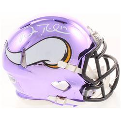 Adam Thielen Signed Minnesota Vikings Purple Chrome Mini Speed Helmet (Beckett COA)