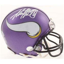 Adrian Peterson Signed Minnesota Vikings Mini Helmet (Beckett COA)