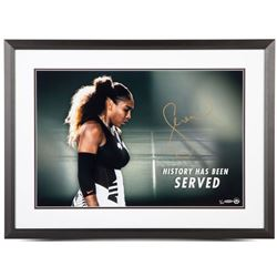 """Serena Williams Signed """"History Has Been Served"""" 20x24 Limited Edition Custom Framed Photo (UDA COA)"""