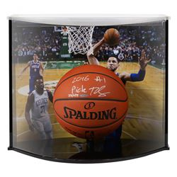 """Ben Simmons Signed Philadelphia 76ers Limited Edition NBA Official Game Ball Inscribed """"2016 #1 Pick"""