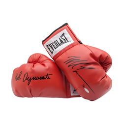 """Mike Tyson Signed Pair of Limited Edition Everlast Boxing Gloves Inscribed """"Kid Dynamite"""" (UDA COA)"""