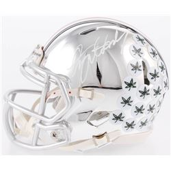 Dwayne Haskins Signed Ohio State Buckeyes Chrome Speed Mini-Helmet With Inscription (JSA COA)