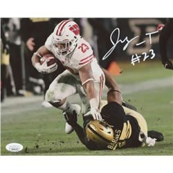 Jonathan Taylor Signed Wisconsin Badgers 8x10 Photo (JSA COA)