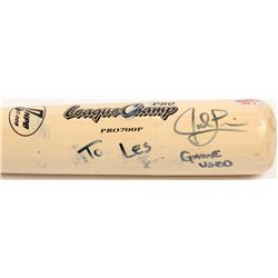 """Jed Lowrie Signed SSK Pro League Champ Baseball Bat Inscribed """"Game-Used"""" (Your Sports Memorabilia S"""