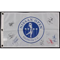 Nissan Open Valencia Golf Pin Flag Signed By (8) with Phil Mickelson, Payne Stewart, Fred Couples, S