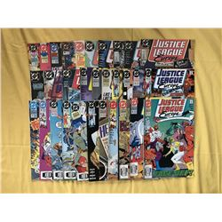 Near Complete Set of (69/73) 1989-1994 Justice League Europe DC Comic Books