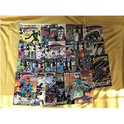 "Lot of (36) 1987-1989 ""Superman"" DC Comic Books"