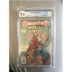 """1982 """"World's Finest"""" #276 White Pages DC Comic Book (CGC 9.2)"""