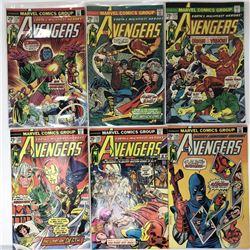 """Lot of (12) 1974-77 """"Avengers"""" 1st Series Marvel Comic Books"""