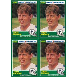 Lot of (4) 1989 Score #270 Troy Aikman RC