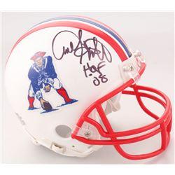 "Andre Tippett Signed New England Patriots Throwback Mini Helmet Inscribed ""HOF 08"" (JSA COA)"