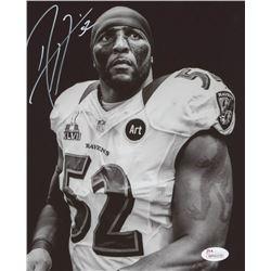 Ray Lewis Signed Baltimore Ravens 8x10 Photo (JSA COA)