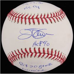 "Jim Palmer Signed OML Baseball Inscribed ""73, 75, 76 AL CY"" ""HOF 90""  ""8x 20 Game Winner"" (JSA COA)"