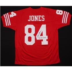 "Brent Jones Signed San Francisco 49ers Jersey Inscribed ""3x SB Champs"" (JSA COA)"