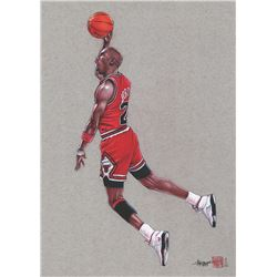Thang Nguyen - Michael Jordan Bulls 8x12 Signed Limited Edition Giclee on Fine Art Paper #/25